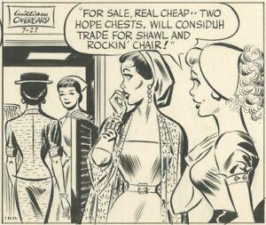 William Overgard - Steve Roper daily, 7-27-1955, NO RESERVE!