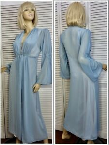 NWT Cabernet Ballet Robe PETITE X-LARGE (PXL) Blue Chiffon Peignoir