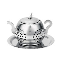 Stainless Steel Teapot Tea Leaf Infuser Tray Spice Strainer Herbal Filter #B