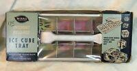 * Mid Century Mirro Aluminum Ice Cube Tray in Original Box
