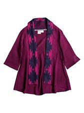 ROXY Girls' INDIE COZY Cardigan - Magenta Purple - Size Medium [12/14] - NWT