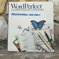 WordPerfect Word Processing Software Version 5.0 (1988) 5.25 inch Diskettes