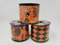 "Crafter's Square 2.5"" x 3 yds Halloween Wire-Edge Ribbon - New"