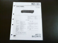 Original Service Manual Schaltplan  Sony MDS-303