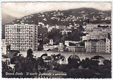 GENOVA CITTÀ 608 STURLA - GRATTACIELO Cartolina FOTOGRAFICA VIAGGIATA 1957