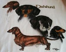 """Dachshund T-shirt """" White """" 2Xl ( 50 ~ 52 )"""