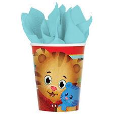 DANIEL TIGER'S NEIGHBORHOOD 9oz PAPER CUPS (8) ~ Birthday Party Supplies PBS