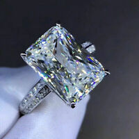 3.00 Ct Radiant Cut Diamond Engagement ring 925 sterling silver VVS1/D