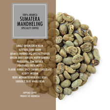 2.2lb Sumatra Mandheling Full Washed Unroasted Green Beans Coffee Grade Aa