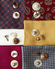 Mens vintage collar studs for tunic shirts PICK A PAIR some mother of pearl