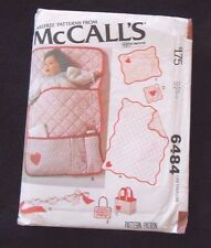 McCall's Crafts Pattern 6484 Baby Accessories Quilt Bunting Bag Toy - New uncut