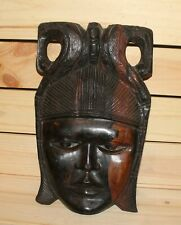 Vintage African hand carving wood wall hanging mask