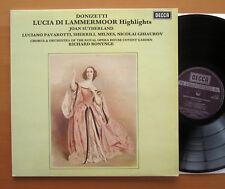 Set 559 Donizetti Lucia di Lammermoor Joan Sutherland Pavarotti casi nuevo Decca