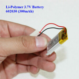 3.7V 300mAh Lithium  Polymer Battery 602030 For Dash Cam. Watch, PSP LED Lamp RC