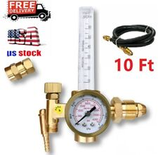 New listing Cga-580 Argon Co2 Mig Tig Flow Meter Regulator Welding Flowmeter 3500Psi w/ Hose