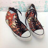 Converse All Star Hi Top Flash DC Comics Superhero Canvas Sneakers Mens 6 Shoes