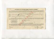Vintage GGIE San Francisco Worlds Fair 1939 General Subscription Agreement