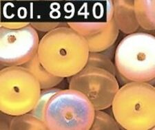 Gütermann Discs beads 6 mm approx. 80 Piece Colour 8940 honey