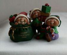 Hallmark Merry Miniatures Santa's Helpers Christmas Elf Figurines 1996 Qfm8051