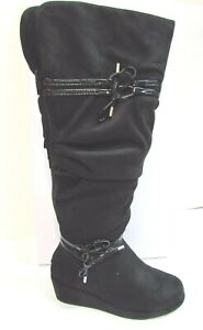 Unlisted by Kenneth Cole Size 1 M New Girls Black Boots Shoes