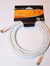 Alphaline RG6 Coax Coaxial Cable 12ft #10879