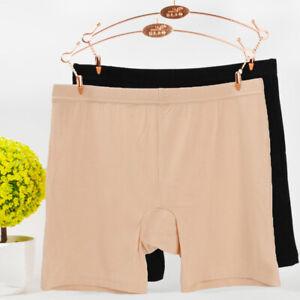 Women's Bamboo Fiber Elastic Underwear Briefs Lady's Safety Under Shorts Pants