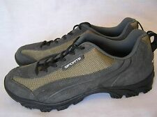 Forte Cycling Shoes w/Cleats US Men's Size 10.5 Dark Grey w/Gold Colors/ Lace Up