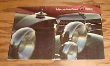 Original 1968 Mercedes-Benz Full Line Deluxe Sales Brochure 68 280SL SE 220