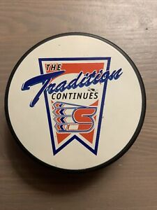 """Spokane Chiefs WHL Hockey Puck """"The Tradition Continues"""" CHL Western League"""