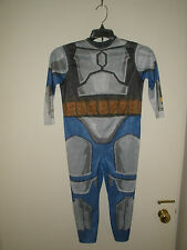 Star Wars Jango Fett Halloween Costume & Lightsaber Boys size small 5-7 #D61