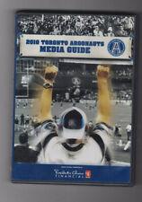 2010 Toronto Argonauts Media Guide DVD CFL