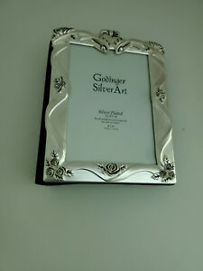 Godinger Silver Plated Satin Finish Wedding Picture Album  4x6'' FREE SHIPPING