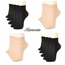 WOMEN LADIES FEMALE BLACK BEIGE ANKLE HIGH POP SOX DENIER TIGHTS TRAINER SOCK UK