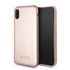 Guess IriDescent iPhone XR(6'1) SCHUTZHÜLLE Back Case Cover Rose-Gold