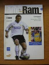 18/03/2000 Derby County v Liverpool  (Faint Marks)