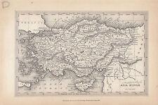 1847 ANCIENT MAP ~ ASIA MINOR ~ PAMPHYLIA LYCIA MYSIA