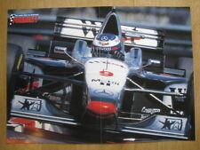Poster West McLaren Mercedes MP4/12 #9 Mika Hakkinen (FIN) (gevouwen)