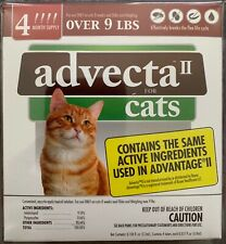 NEW ADVECTA II FOR LARGE CATS 8 WEEKS & OLDER OVER 9 LBS 4 DOSES 4 MONTH SUPLY