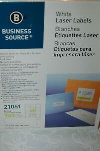"""Business Source Bsn-21051 21051 Mailing Label - 1"""" Width X 2.62"""" Length 7500"""