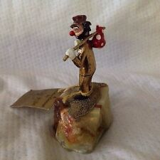 Vintage Collector Ron Lee 1979 Pewter 24k Gold Plated Clown Figurine W/ Tag