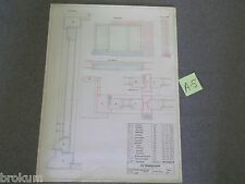 Architectural School Drawing -Dutch Netherlands House Window Design Constr -A-5