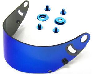 Go Kart ARAI CK6 BLUE IRIDIUM VISOR & ANNODISED COMPLETE VISOR FITTING SCREW KIT