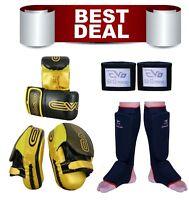 Best Deal Boxing Bag Gloves Focus pads Hand Wraps Shin Instep MMA Kit Muay Thai