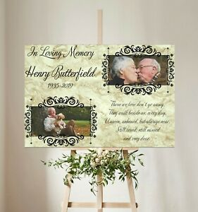Personalised Funeral Welcome Canvas Sign, Memorial, Remembrance and Celebration