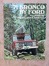 Ford Bronco Jeep 4WD 4X4 1971 Truck Vintage Poster Advertising ad Metal Sign