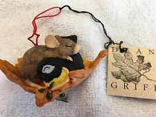 """Charming Tails """"Catching Zzzzs"""" Mouse Christmas Ornament Silvestri"""