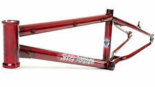 """S&M BIKES STEEL PANTHER RACE FRAME TRANS CANDY RED 22 BMX BIKE 22"""" RACING 20"""""""