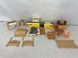 Vintage TOMY Dollhouse Furniture Lot......smaller homes