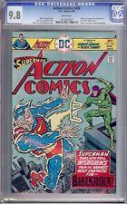 Action Comics #458 CGC 9.8 White 1st Blackrock Highest Graded 1 of 3 (DC 1976)