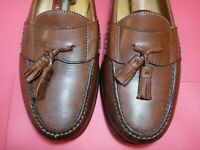 Men's Shoes COLE HAAN Tassel Loafers Sz 10 M Brown Leather Soles & Uppers
